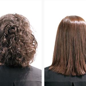 Straightening - Haare glätten vorher und nachher