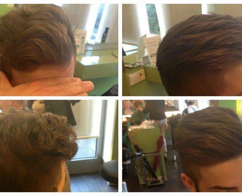 Haare glätten - vorher - nachher